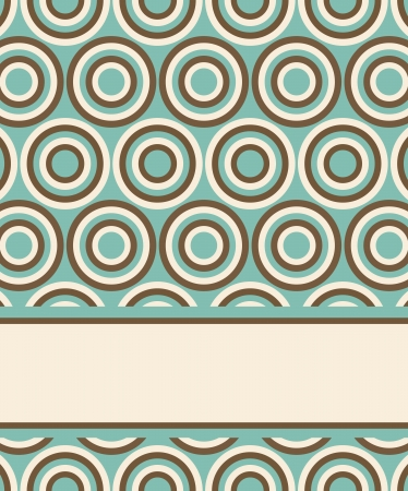 template for invitation or card design with fashion geometrical pattern in retro colors. Illustration