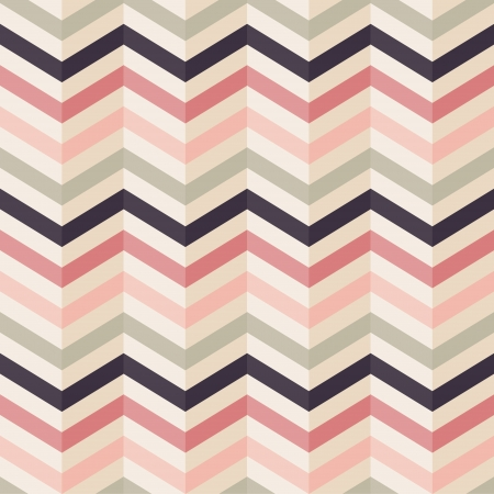 Fashion zigzag pattern in retro colors, seamless vector background Vector