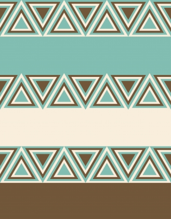 Fashion geometrical pattern in retro colors, seamless background  For fashion textile, cloth, backgrounds  Illustration