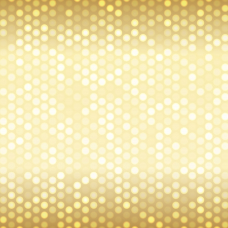 Pattern with mixed small spots on golden color  Seamless  background Vector