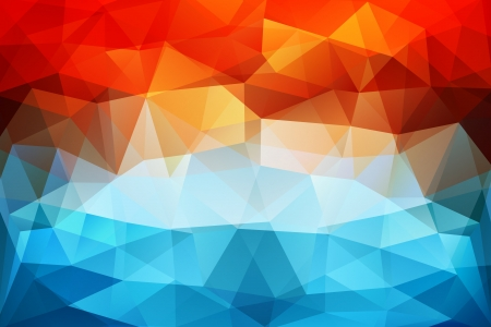 Colorful abstract geometric background with triangular polygons  Vector