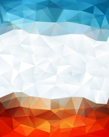 Abstract geometric background with triangular polygons  Vectores