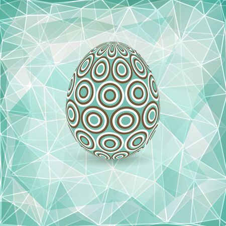 Colorful Easter egg on abstract geometric background with triangle polygons  Vector