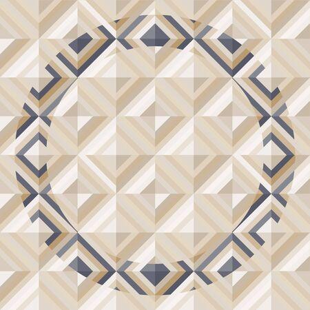 Geometrical pattern in dark gray golden colors, seamless background  Illustration