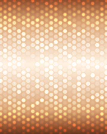 Luxury metallic bronze background with small spots of light  Vector