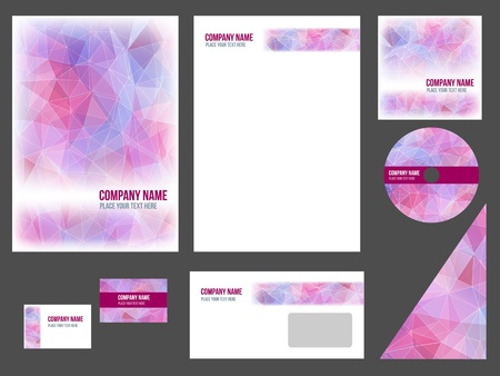 Corporate identity for company or event  template for business stationery  Illustration