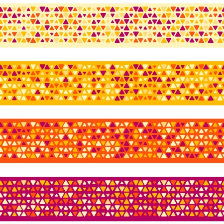 Colorful patterned borders with mixed small spots  Seamless vector background Illustration
