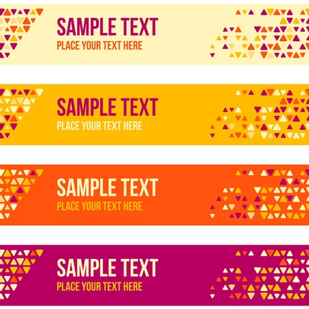 Abstract patterned banner background with mixed small spots  Colorful background set  Vector