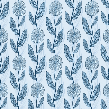 Seamless floral pattern, vector background for your design Vector