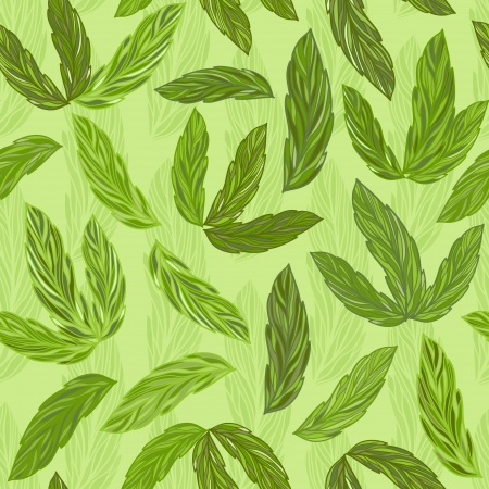 Seamless vector floral pattern in green colors Illustration