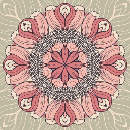 Abstract seamless colorful pattern with flowers Vector