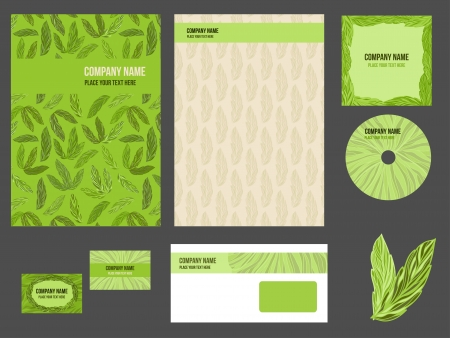 Corporate identity for company or event. Vector template for business stationery set. Illustration