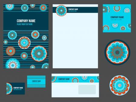 evento corporativo: Identidad corporativa para empresa o evento. Modelo del vector de papeler�a conjunto.