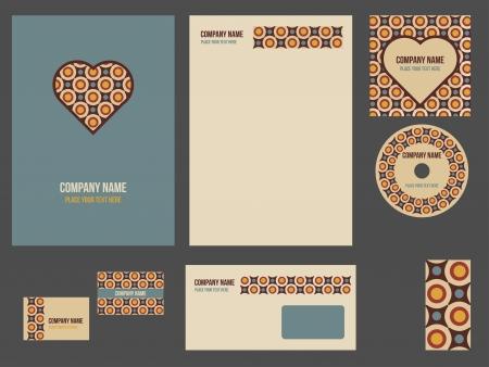 evento corporativo: La identidad corporativa de la empresa o evento plantilla para empresa de papeler?a conjunto