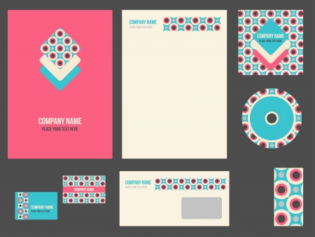 Corporate identity for company or event  template for business stationery set
