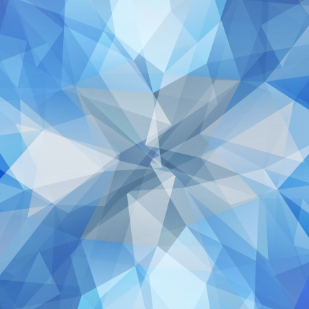 Abstract geometric ice flower. Background with triangular polygons. Stock Vector - 20671513