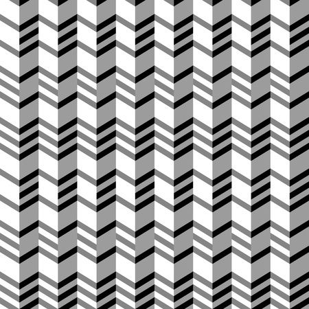 Geometrical seamless flat pattern with 3d illusion. Vector illustration. No gradients, no effects - only plain colors. Vector