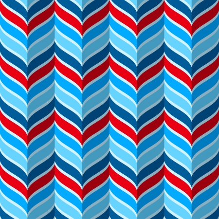 Abstract geometric pattern, seamless vector background in red and blue colors