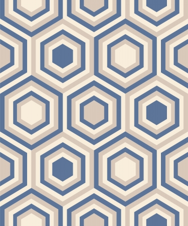 Fashion abstract geometrical pattern with hexagons. Seamless vector background.