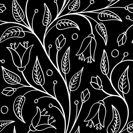 Seamless floral pattern with white flowers on black for wallpaper seamless floral pattern with white flowers on black for wallpaper pattern fills web page mightylinksfo