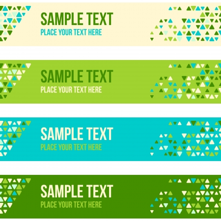 Abstract patterned banner background with mixed small spots. Colorful vector background set. Vector