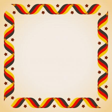 Design-Elemente - Rahmen mit Bändern in deutschen Flaggenfarben Vektor-Illustration Standard-Bild - 23754277