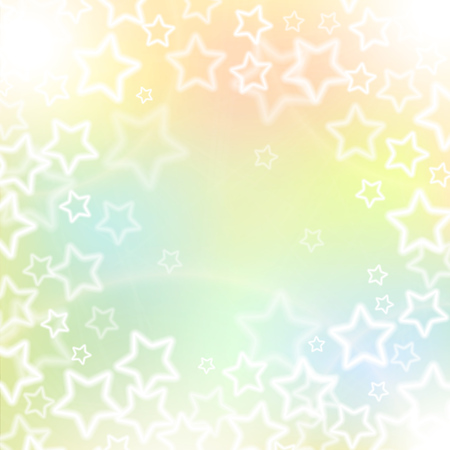 Abstract holidays background with white blured stars and light soft colors. Vector illustration. Illustration