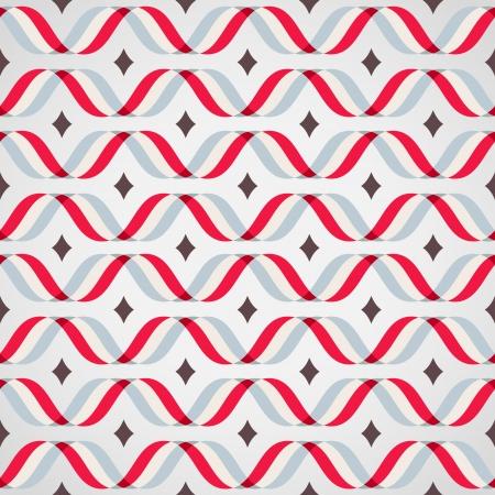 Design elements - colorful waves. Seamless background. Vector illustration.