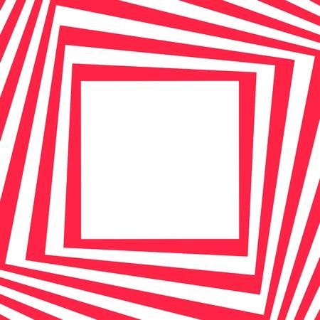 opt: Abstrakcyjne tło w stylu Art Opt - czerwone paski ramki. Ilustracji wektorowych.
