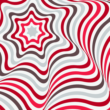 Abstract background in Opt Art style. Vector illustration.