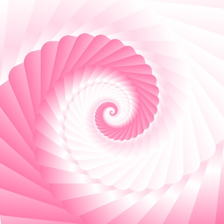 Double colored twirl - white and pink. Abstract vector background. Illustration