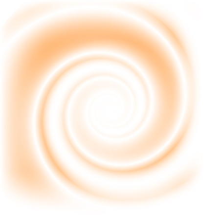 Double colored twirl - white and peach. Abstract vector background.