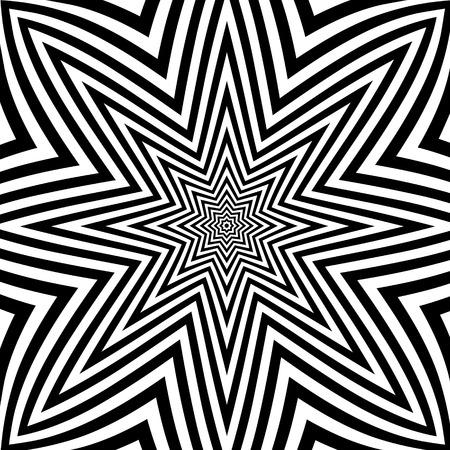 opt: Abstrakcyjne tło w stylu Art Opt Ilustracji wektorowych Ilustracja