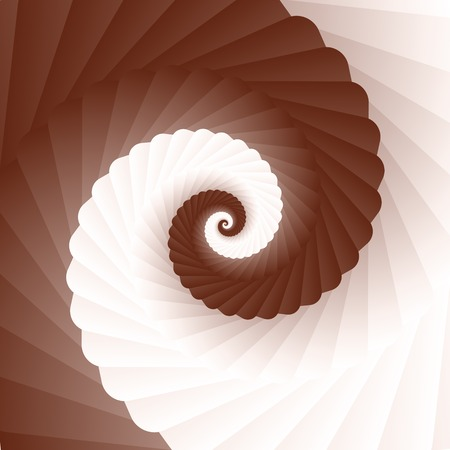 Double colored twirl - white and brown, chocolate  coffee  and milk  Abstract vector background  Vector