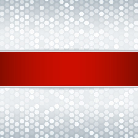 platina: Sjabloon voor kaart of uitnodiging Platinum metaal achtergrond met een rood lint bewerkbare vector achtergrond