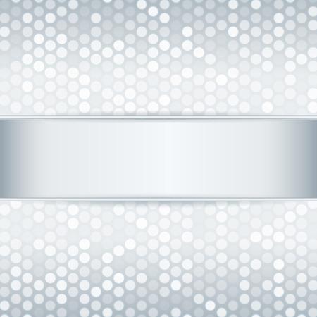 Sjabloon voor kaart of uitnodiging Platinum metaal achtergrond met metalen lint Bewerkbare vector achtergrond
