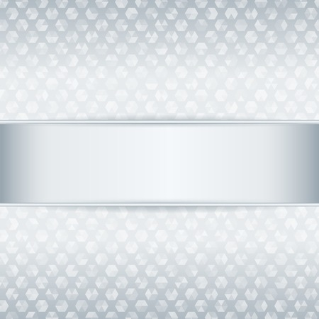 platinum background: Template for card or invitation  Platinum metal background with metal ribbon  Editable vector background