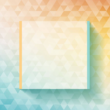 Colorful abstract geometric background with triangular polygons  low poly   Vector illustration