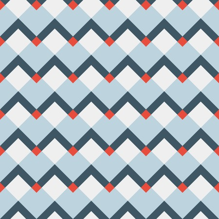 fashion geometric pattern in retro blue colors seamless vector