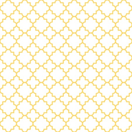 Traditional quatrefoil lattice pattern  Seamless vector background