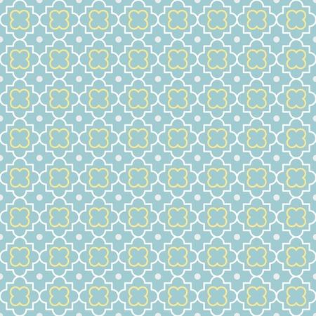 quatrefoil: Traditional quatrefoil lattice pattern  Seamless vector background