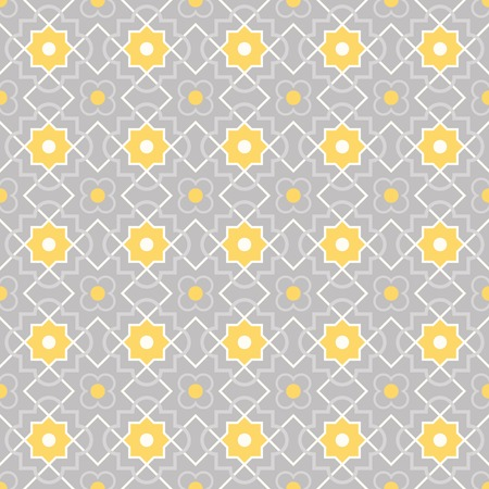Traditional quatrefoil lattice pattern  Seamless vector background  Vector