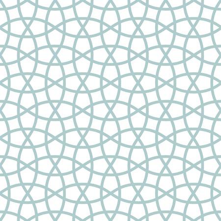 伝統的なアラビアのもつれた格子パターンのシームレスなベクトルの背景