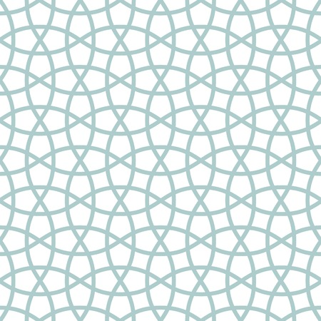 Traditional arabic tangled lattice pattern  Seamless vector background