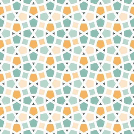 pattern sans soudure: Traditionnelle arabe motif en treillis emm�l�s vecteur Seamless