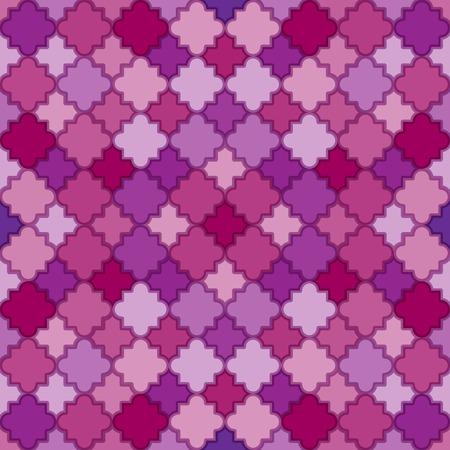 quatrefoil: Abstract Purple Pattern. Seamless vector background with quatrefoil lattice shapes.