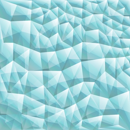 edge of the ice: Abstract geometric background with triangular polygons - low poly. Vector illustration. Turquoise.