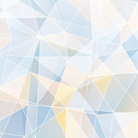 edge of the ice: Abstract geometric background with triangular polygons - low poly. Vector illustration.
