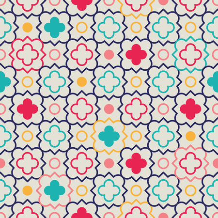 quatrefoil: Traditional quatrefoil lattice pattern. Seamless vector background. Illustration