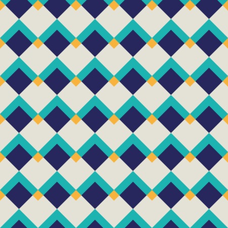 Fashion geometric pattern in retro colors, seamless vector background. For fashion textile, cloth. Vector